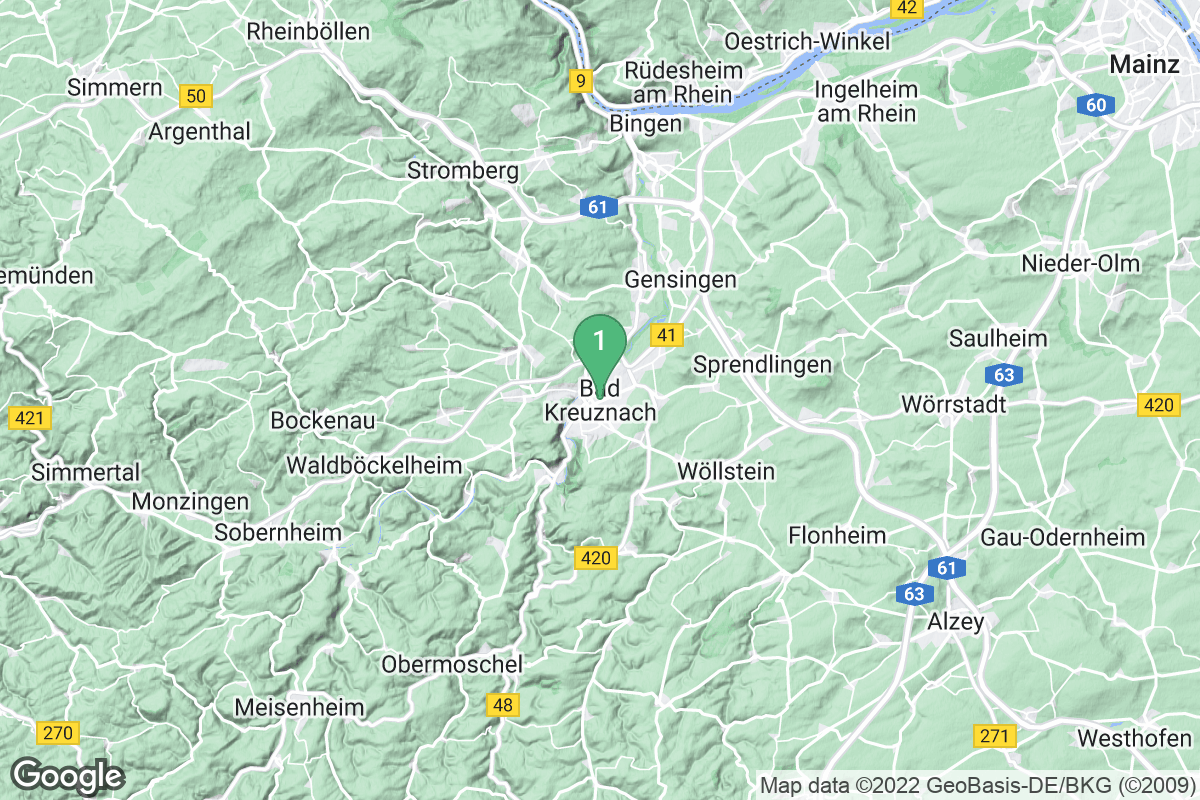 Google Map of Bad Kreuznach